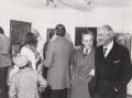 Novaresio all'inaugurazione della mostra con l'amico Mario Maione
