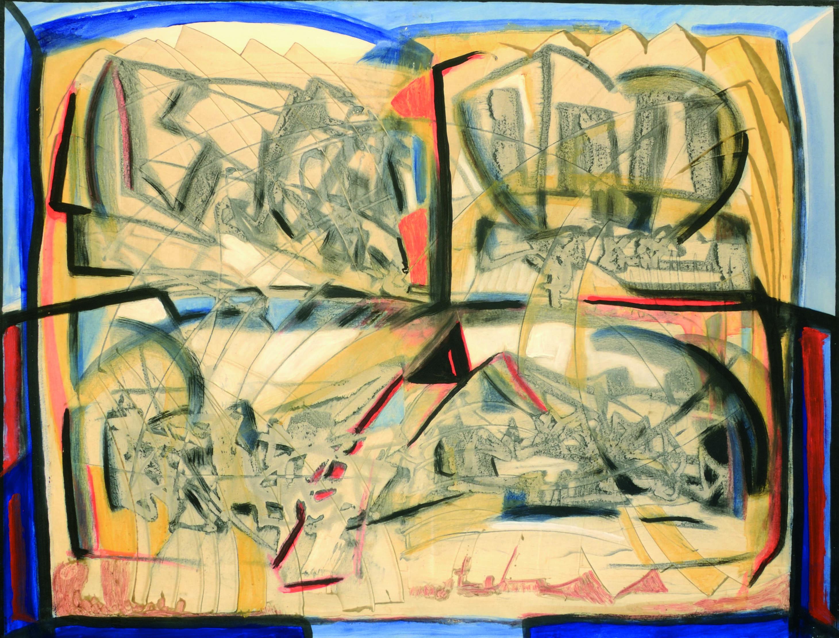 11 Senza titolo 1980ca tecnica mista su tela cm 100 x 130