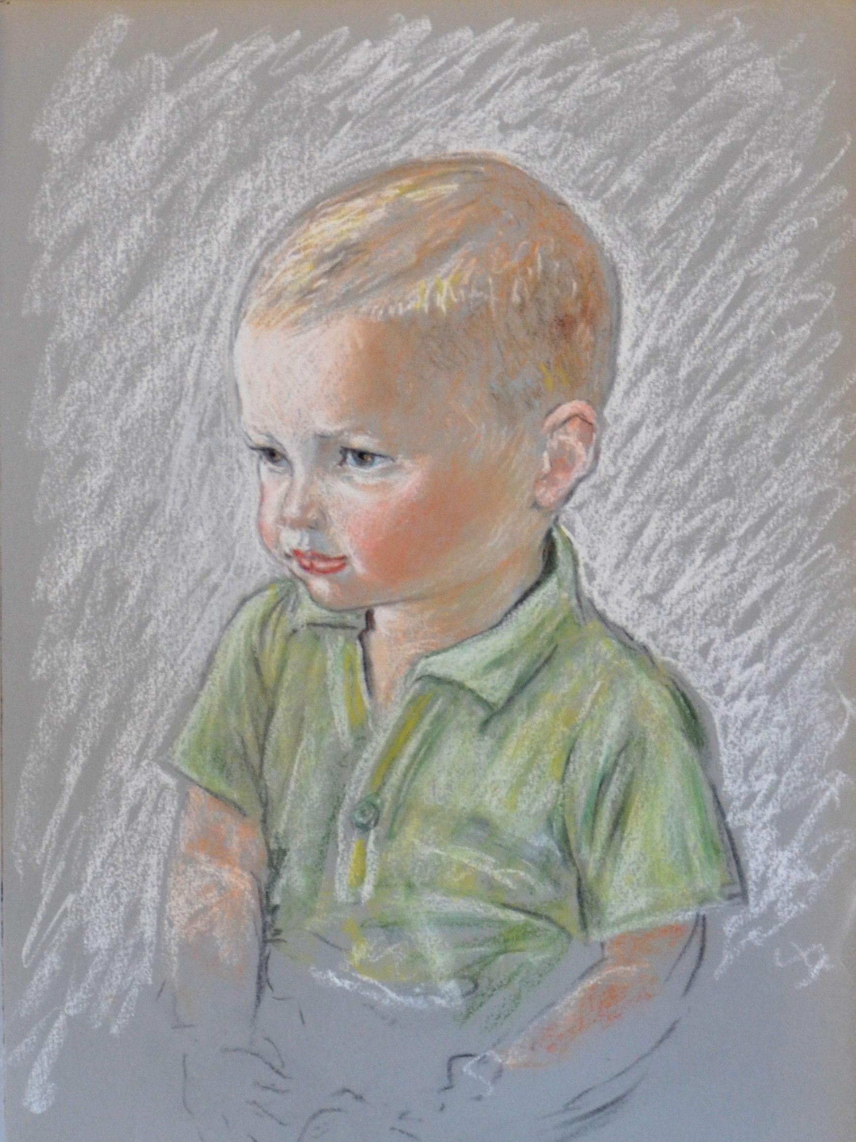 13. Ritratto di bambino anni 60 pastello su carta