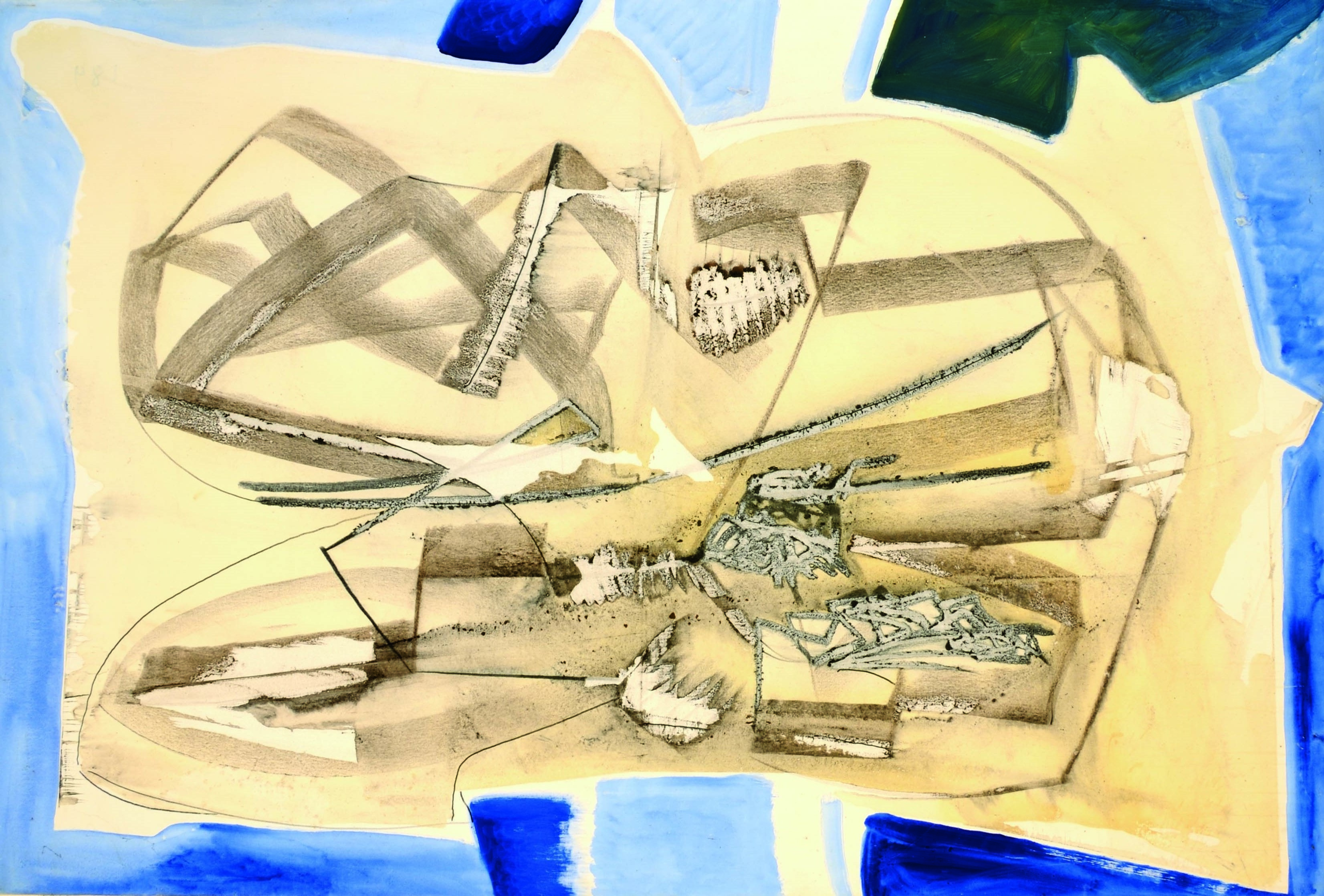15 Senza titolo 1980ca tecnica mista su tela cm 100 x 150