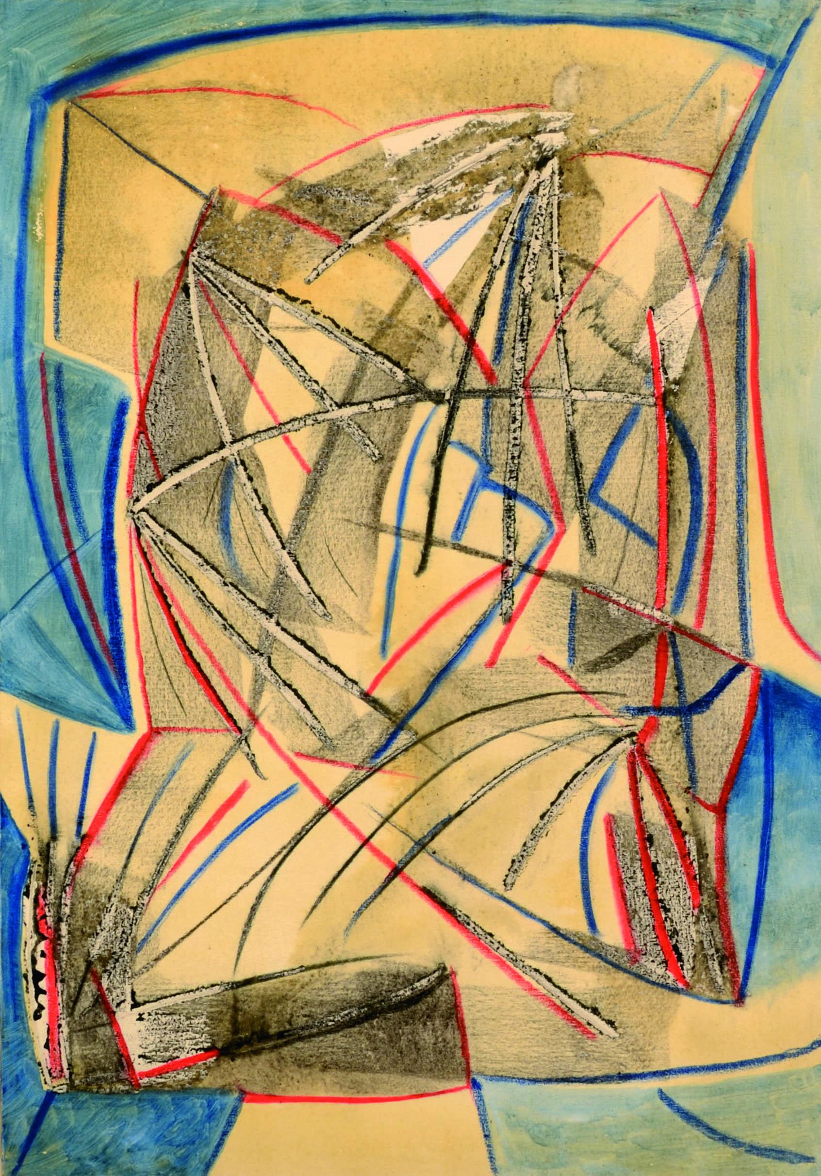 16 Senza titolo 1980ca tecnica mista su tela cm 70 x 100