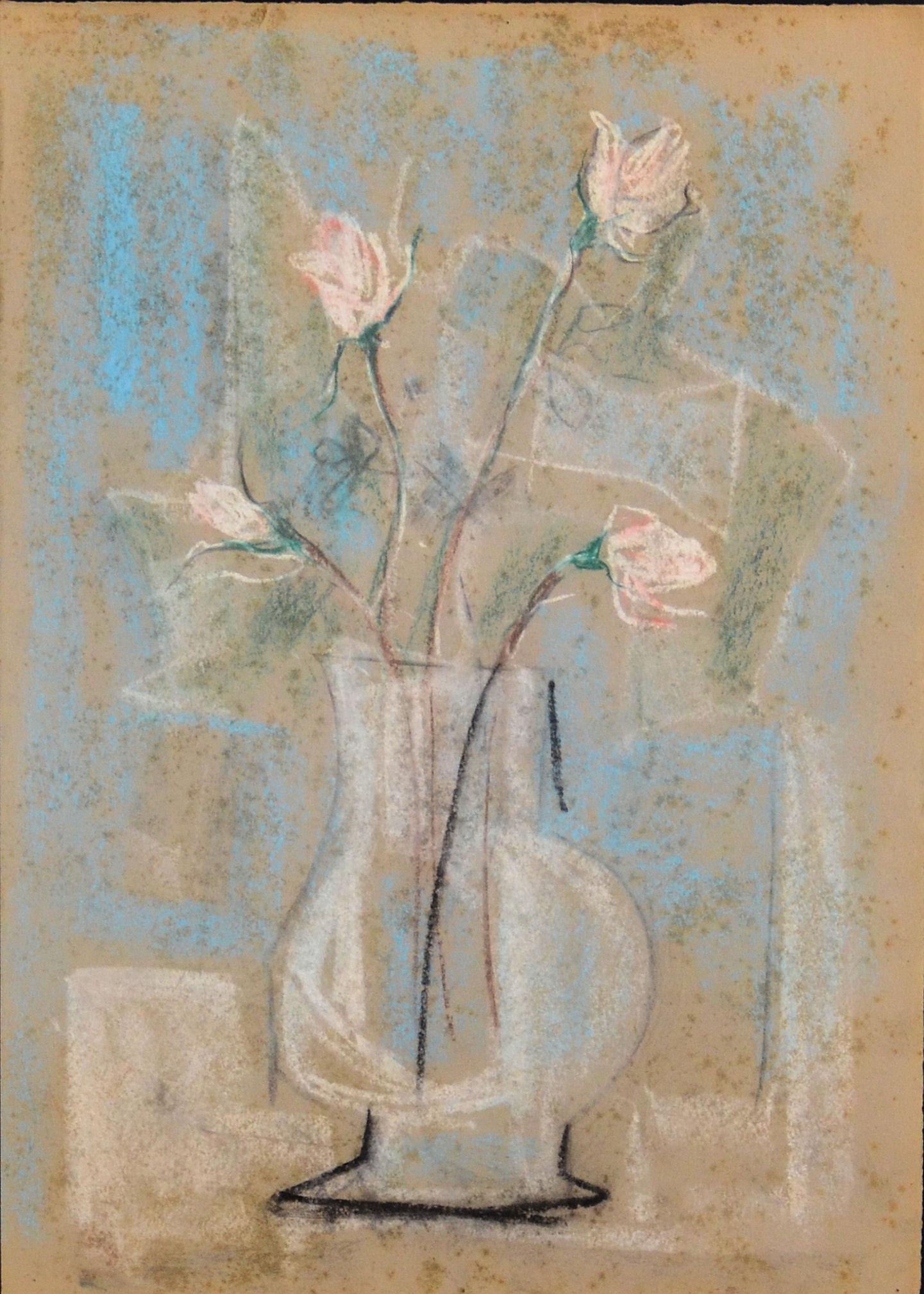 16. fiori anni 60 pastello su carta cm 50x70