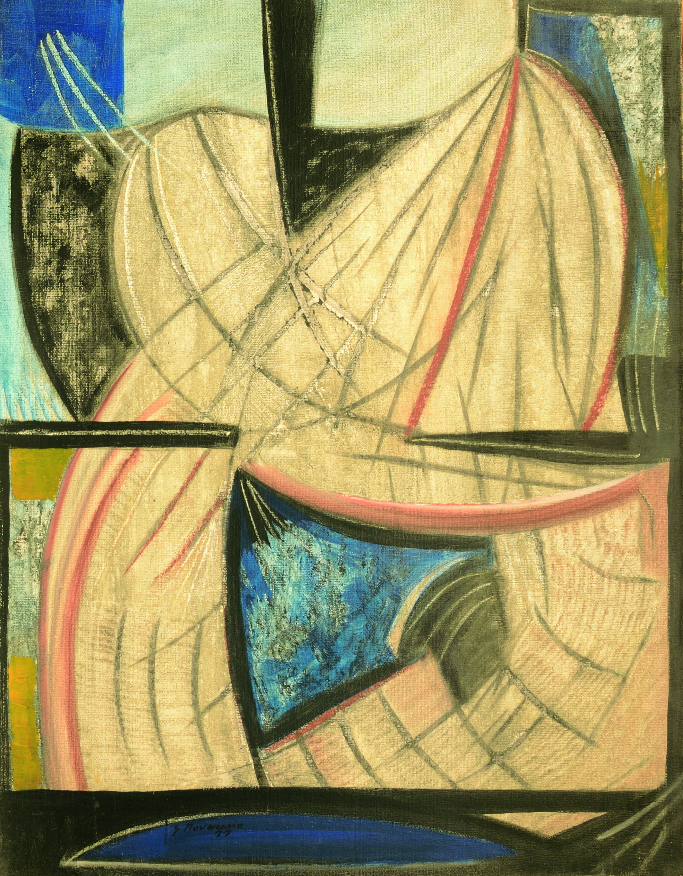 19 Senza titolo 1977 tecnica mista su tela cm130 x 100