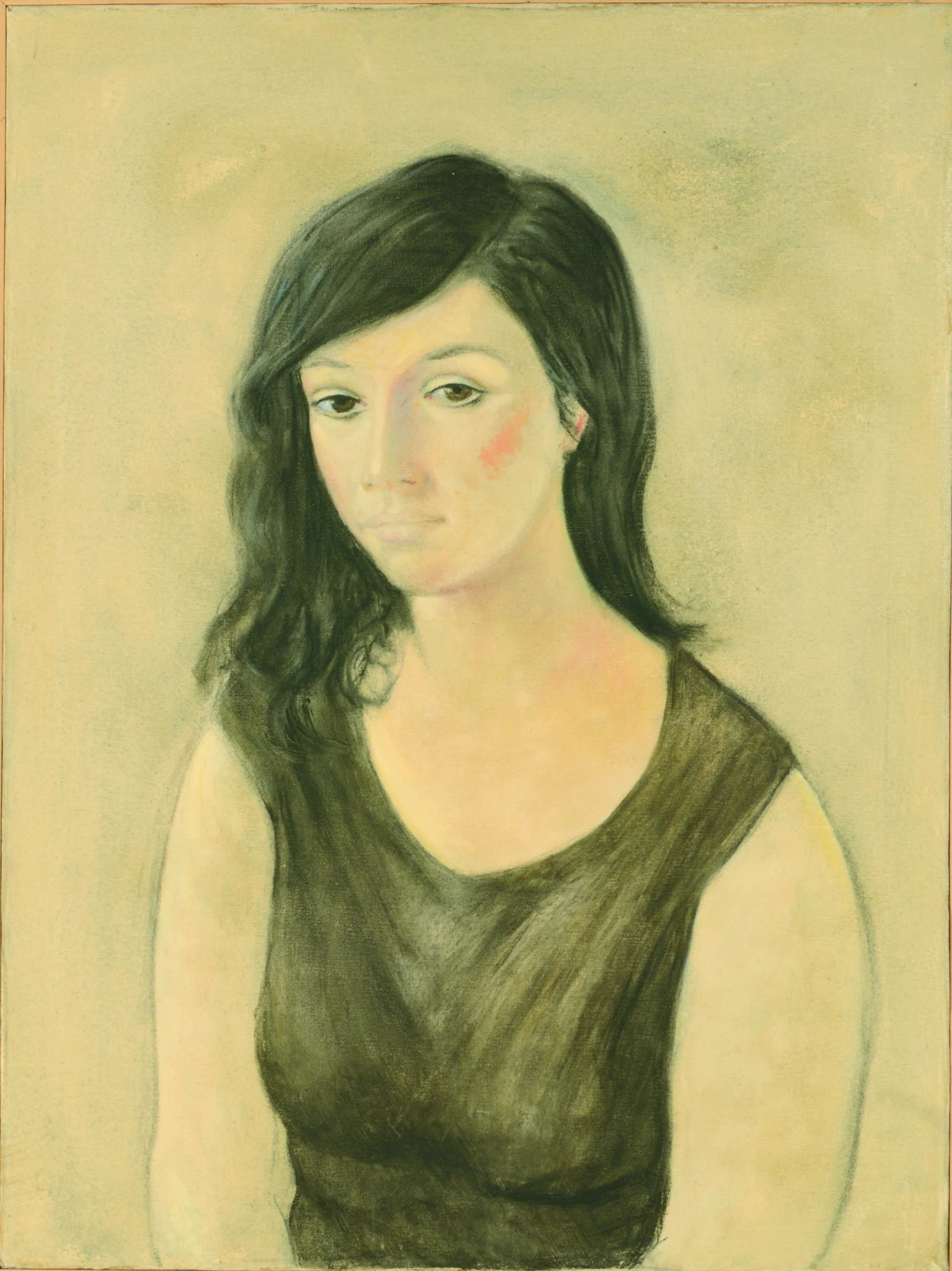2 Ritratto di donna 1984 olio su tela cm 80 x 60