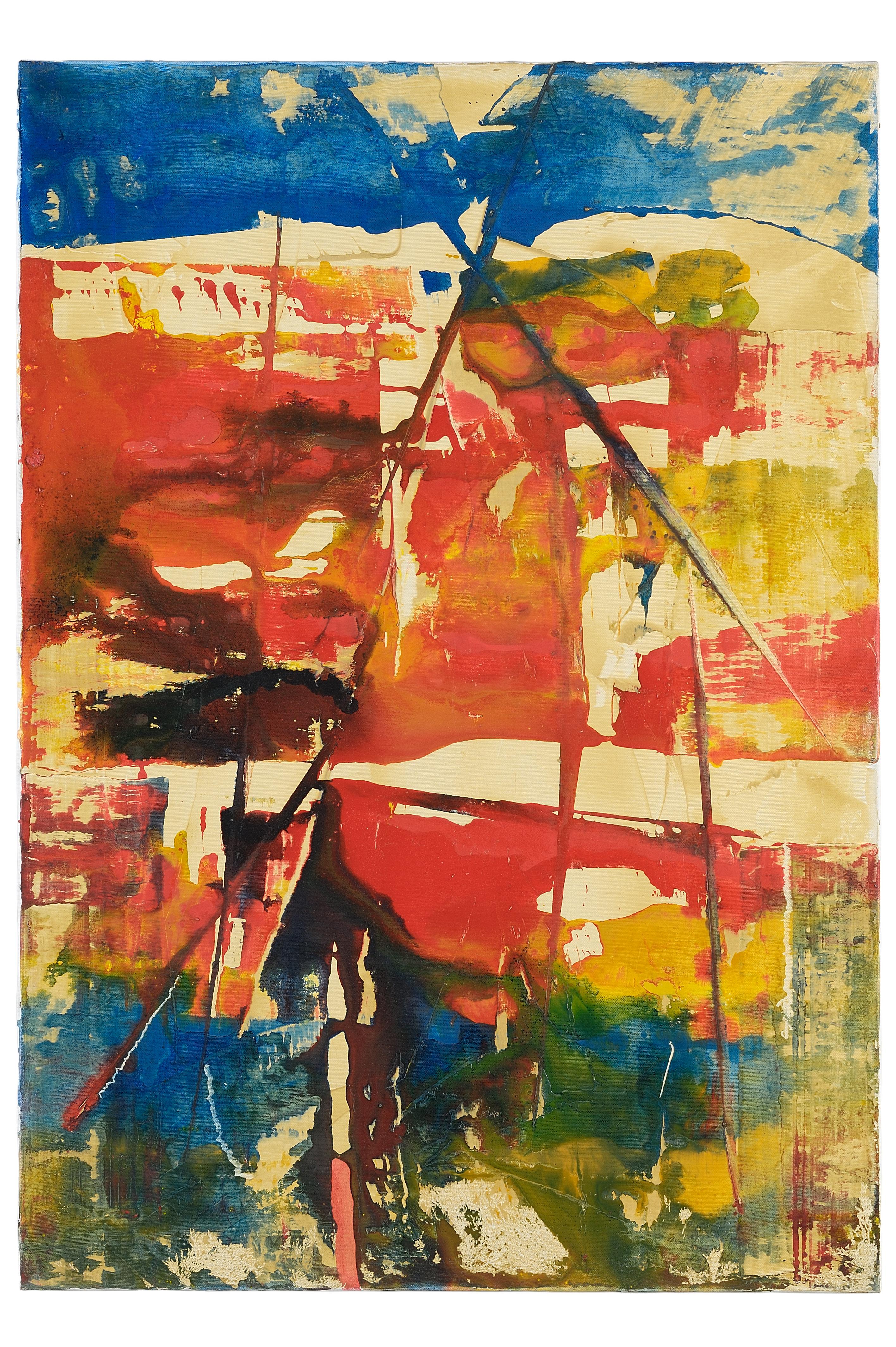 2 Senza titolo 1990ca tecnica mista su tela cm 100x70