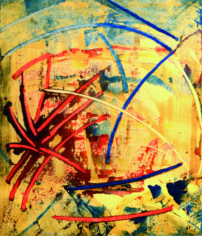 20 Senza titolo 1980ca tecnica mista su tela cm 70 x 60