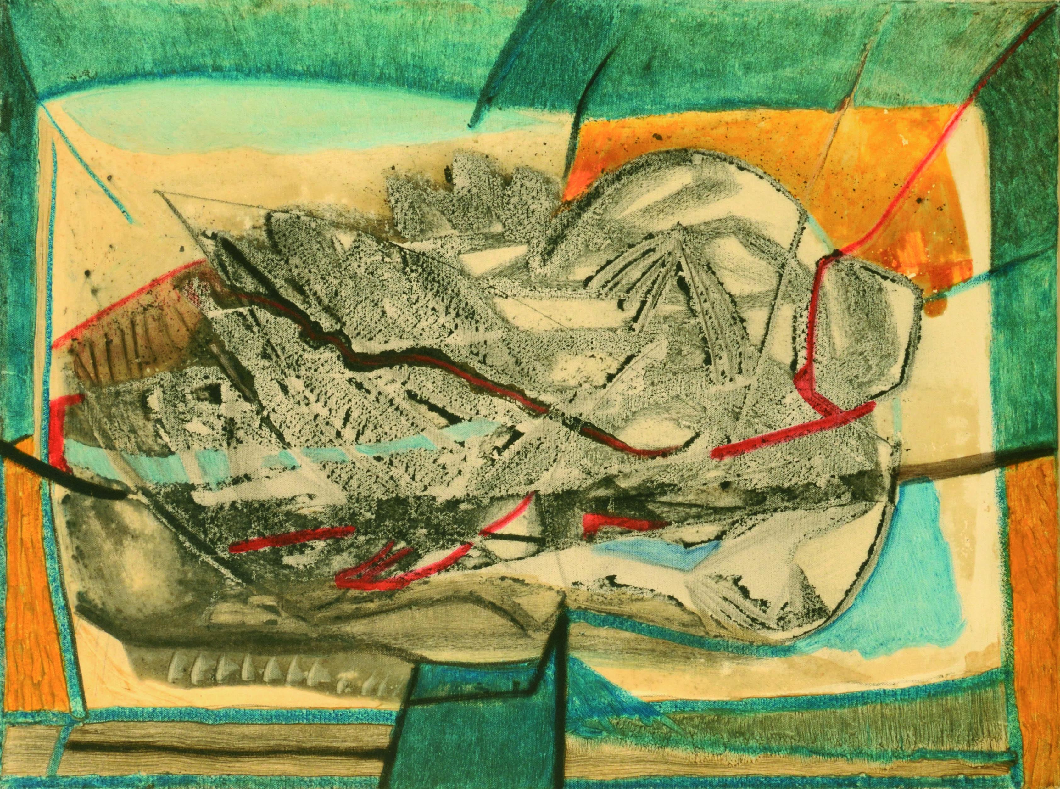 21 Senza titolo 1980ca tecnica mista su tela cm 60 x 80
