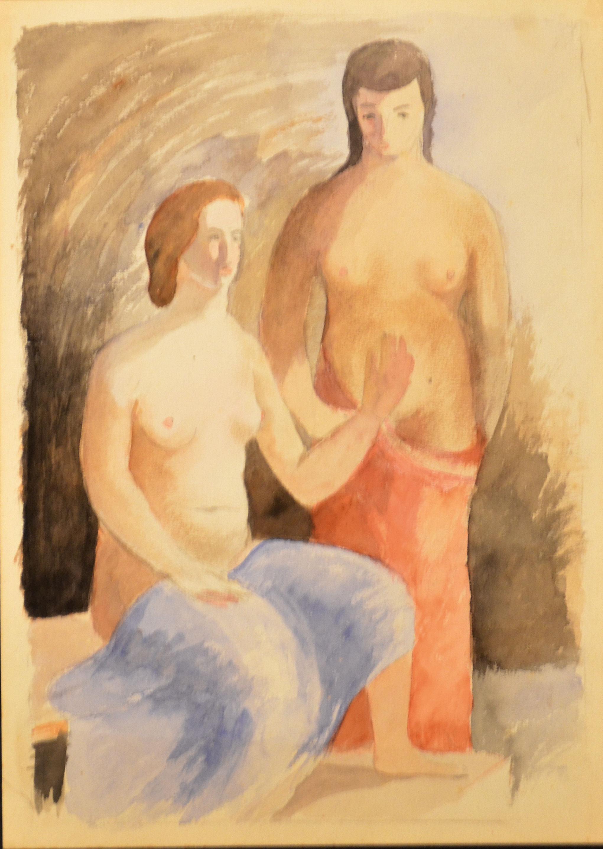 28.Figure femminili 1938 ca acquarello su carta cm 32x23