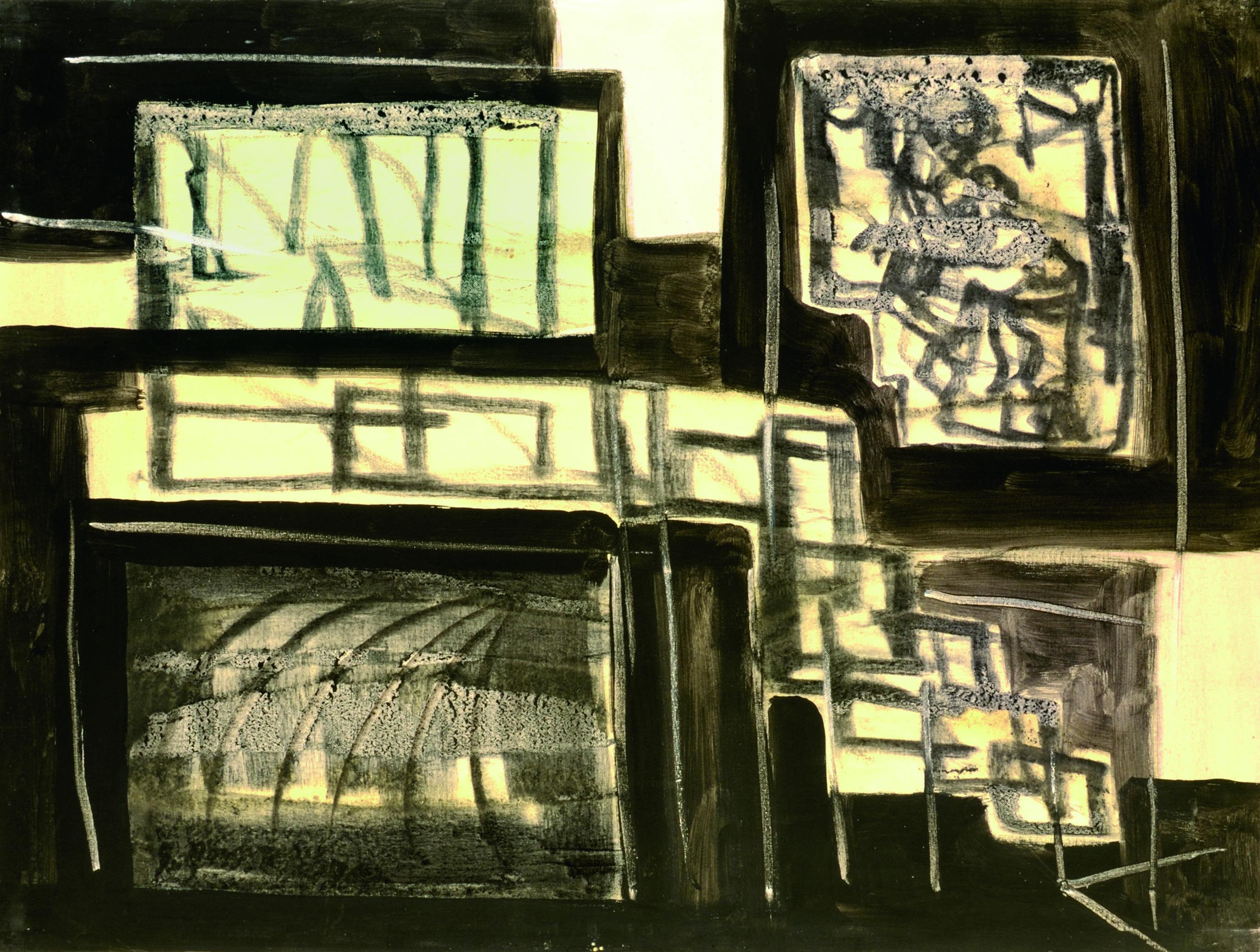 3 Metropolitana di Milano 19 76 olio su tela. cm 60 x 80