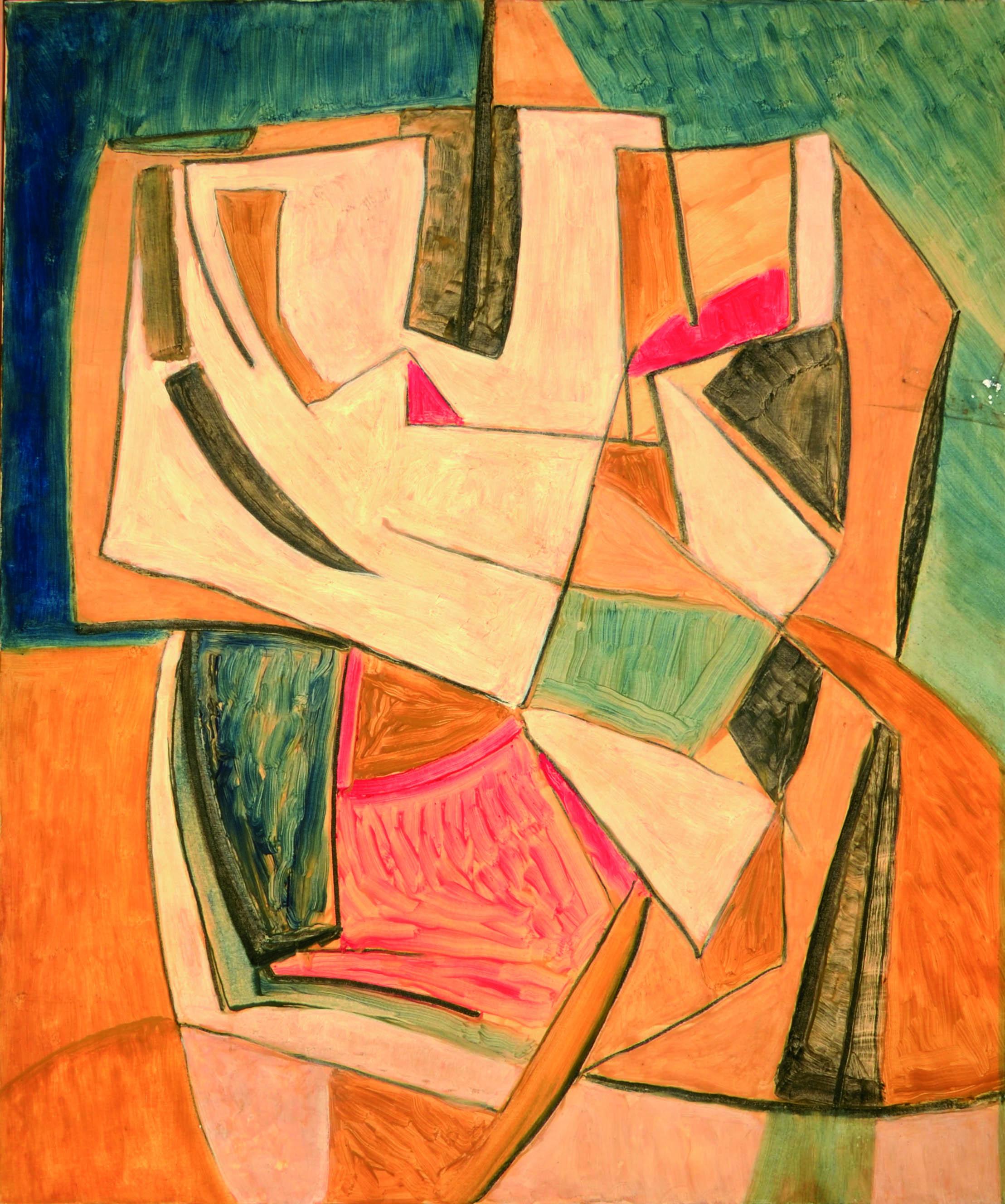4. Senza titolo 1980ca tecnica mista su tela 120 x 100