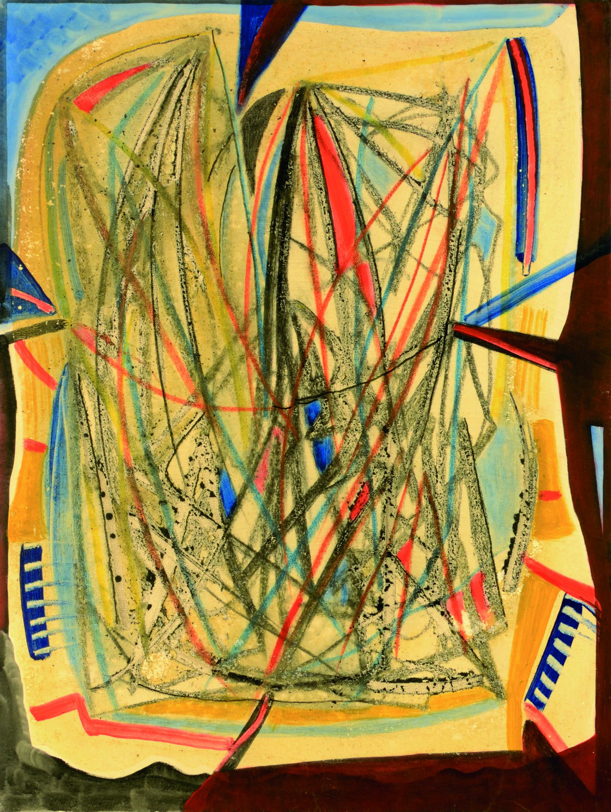 7 Senza titolo 1980ca tecnica mista su tela cm 80 x 60