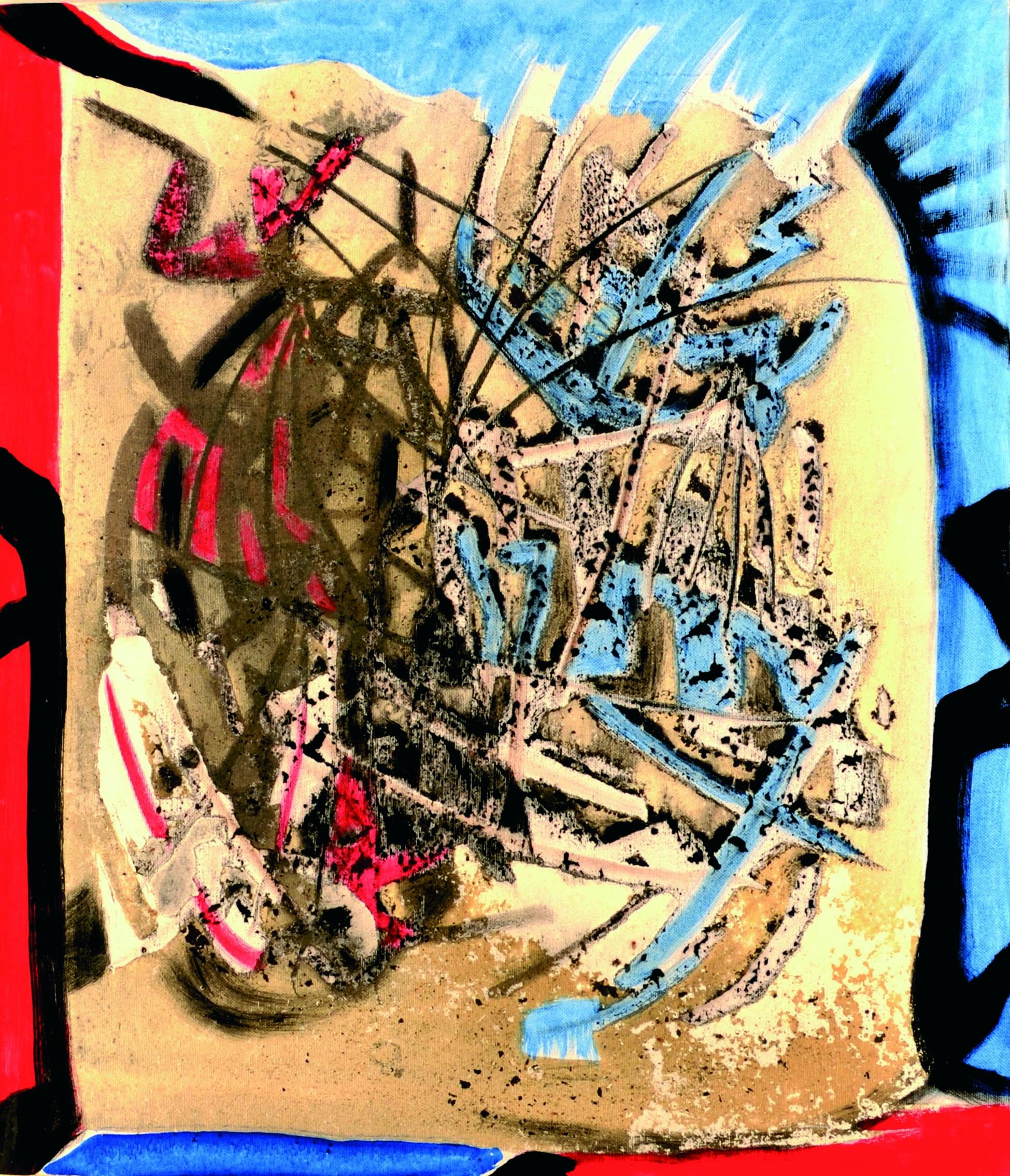 9 Senza titolo 1980ca tecnica mista su tela cm 70 x 60