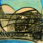 1. Senza titolo 1984 tecnica mista su tela cm 50 x 70