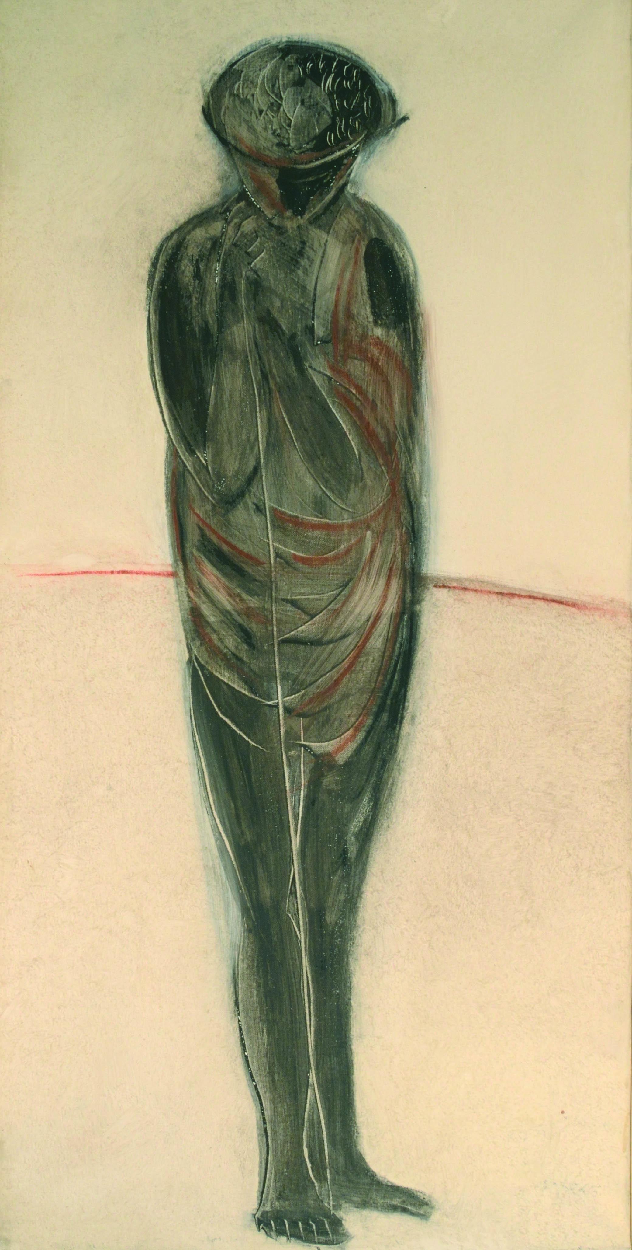 12 Pastore 1980 ca olio su tela cm 100 x 50 1