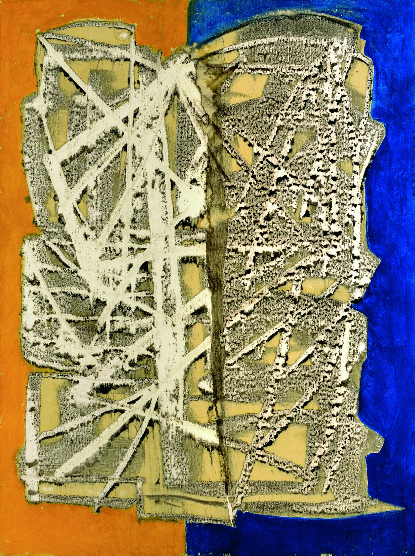12 Senza titolo 1980ca tecnica mista su tela cm 80 x 60