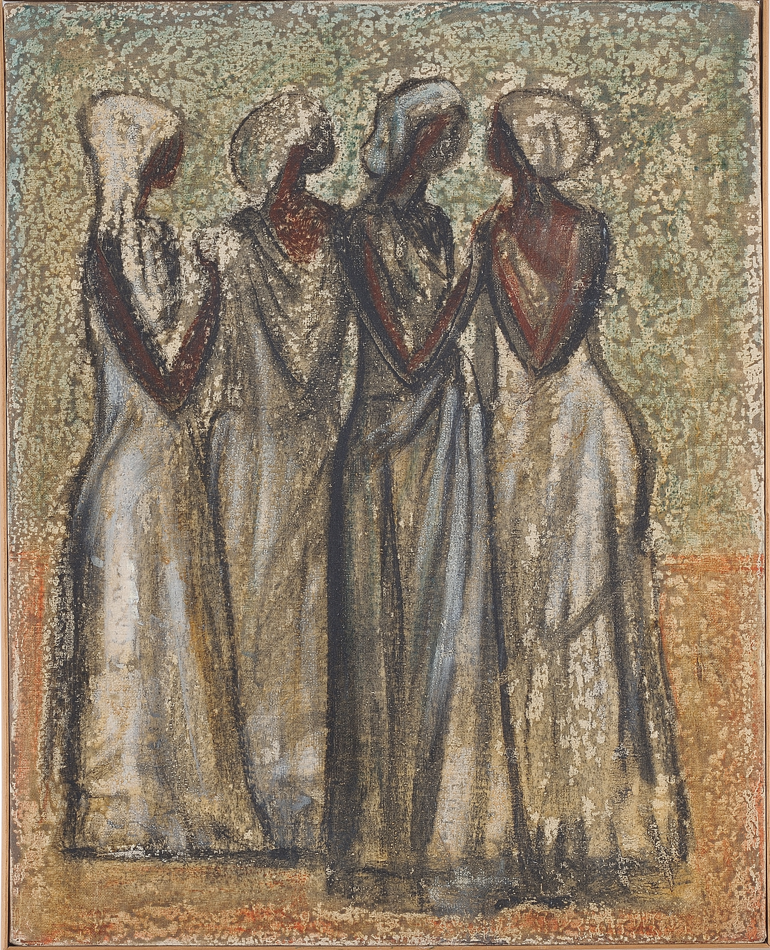 16. Quattro somale 1965 ca olio su tela cm 40x50