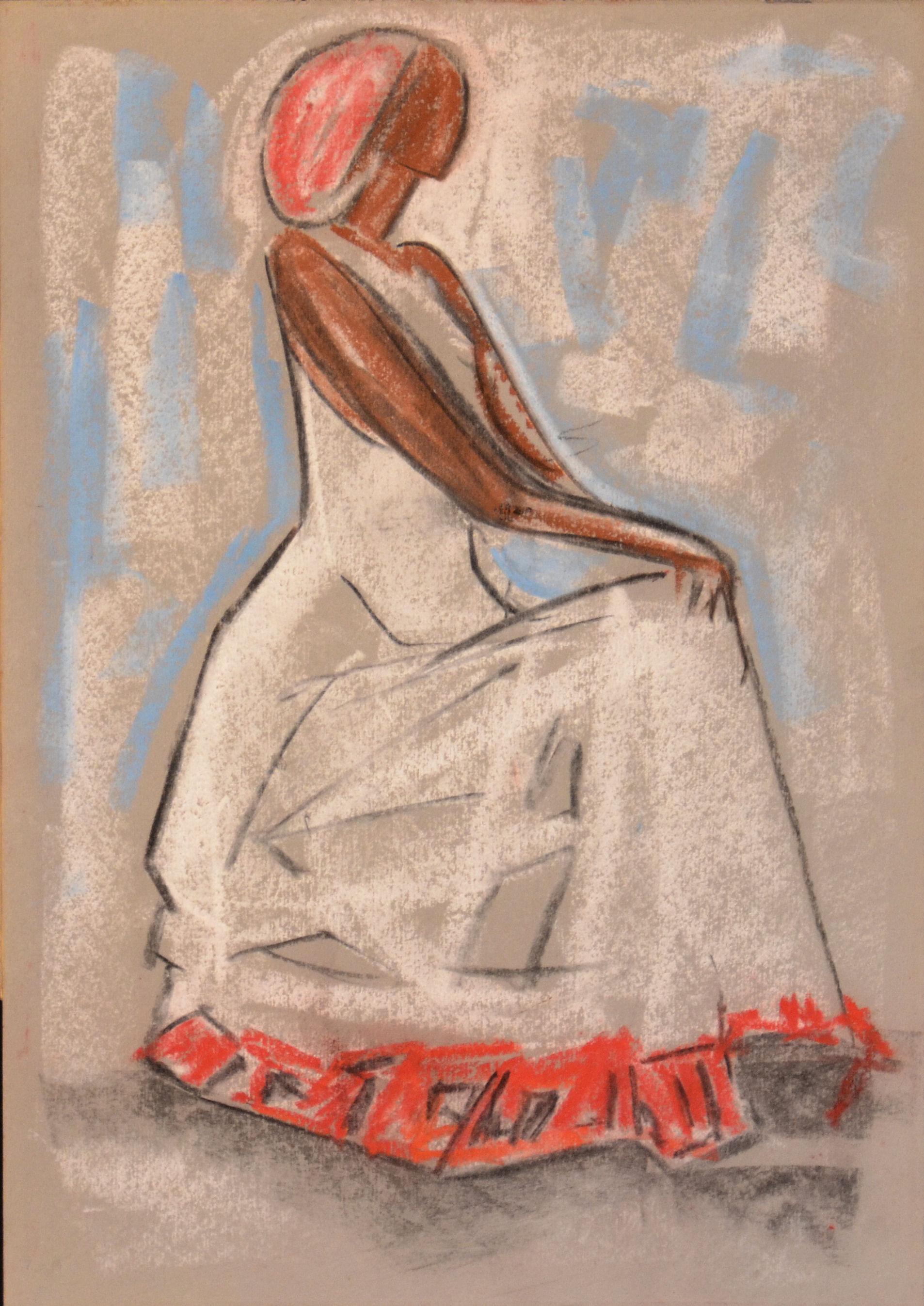 17 Somala 1963 ca gesso su cartoncino cm 50x 355