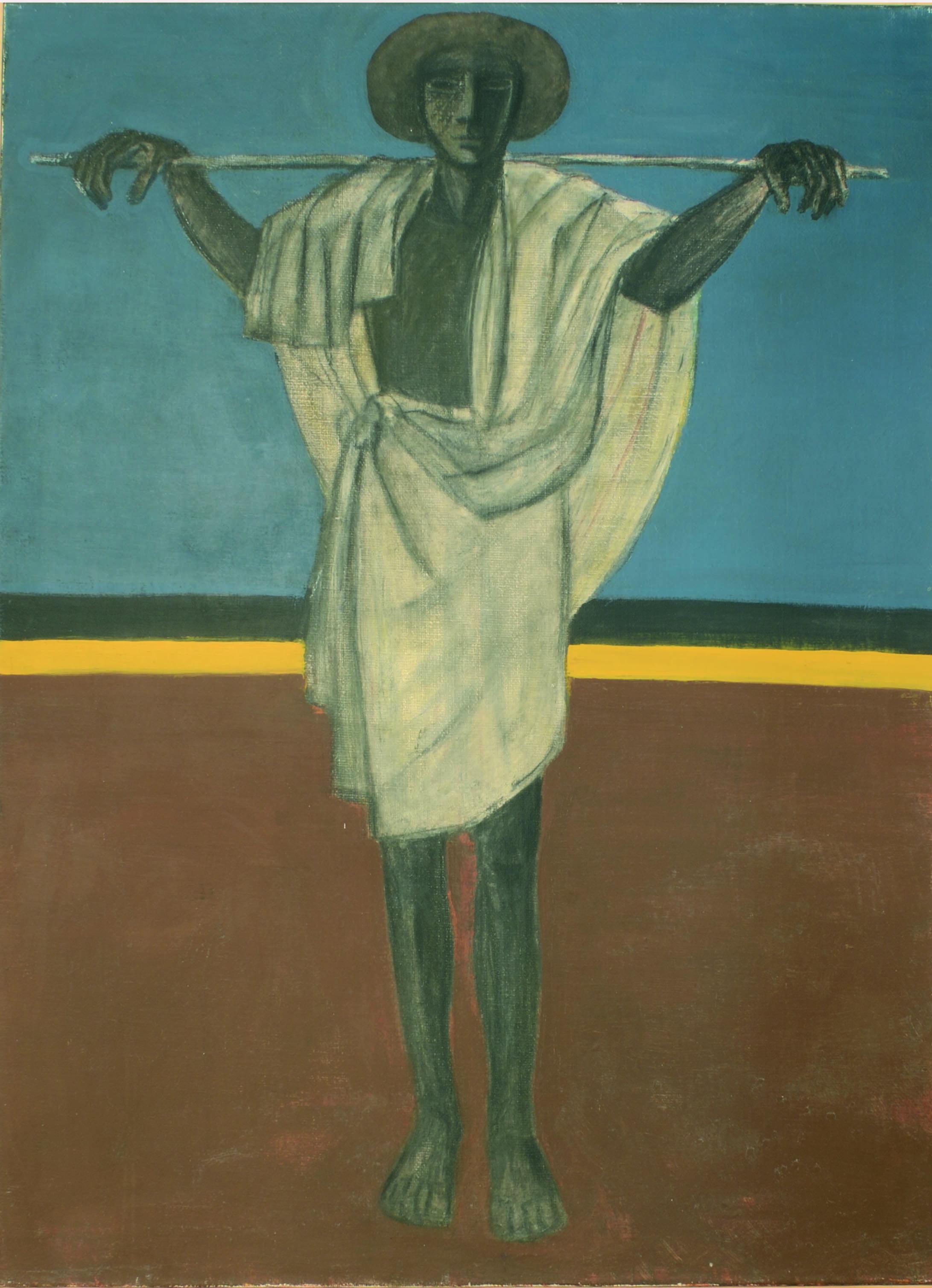 2. Pastore 1980 ca olio su tela cm 130 x 100 1
