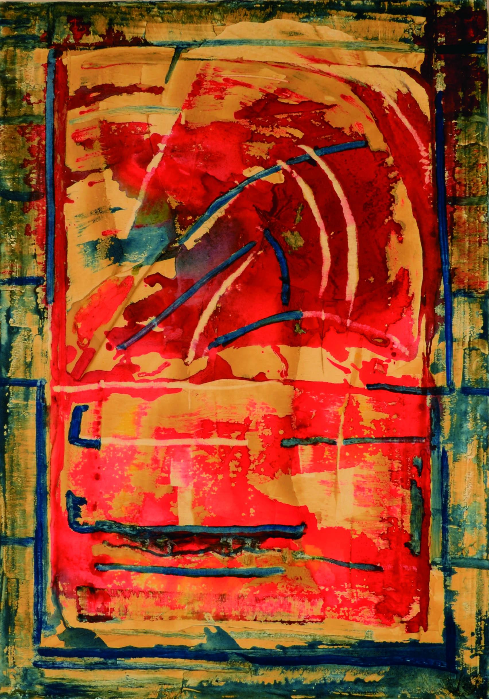23 Senza titolo 1990ca tecnica mista su tela cm 100 x 70