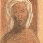 3.Somala 1956ca gesso su cartoncino cm 49 x 33