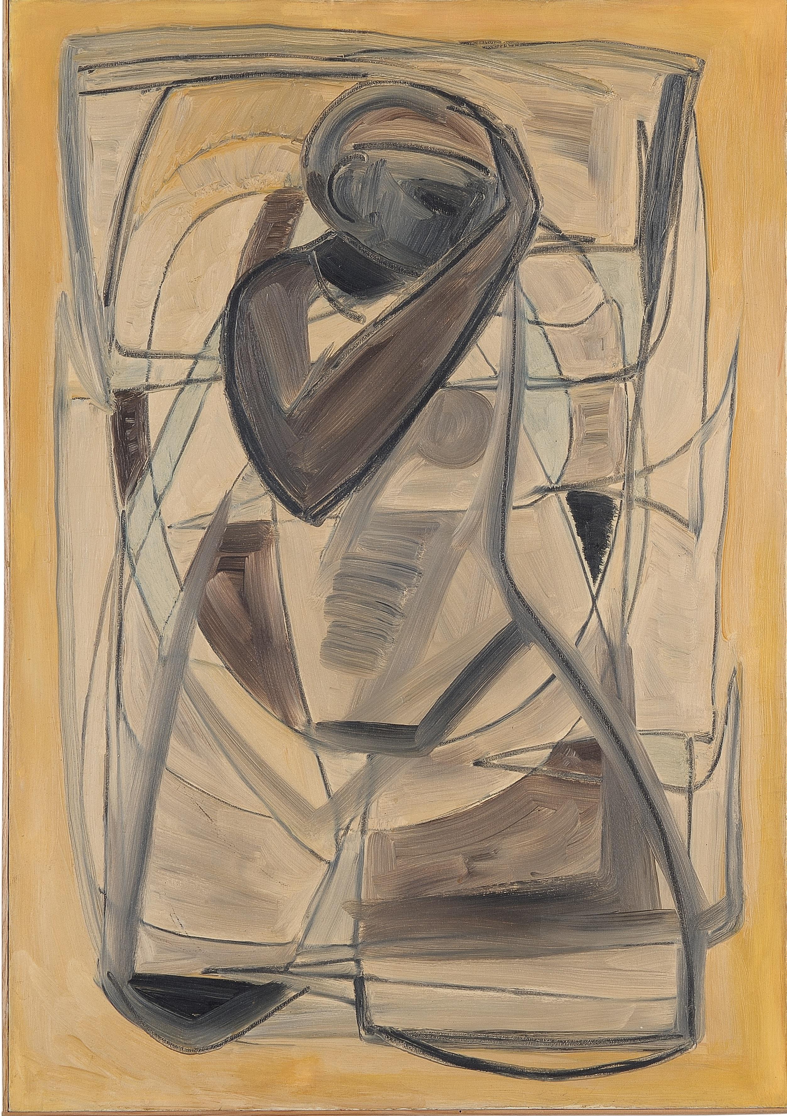 5. Figura 1969 ca olio su tela cm 100x70